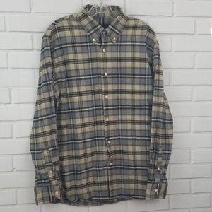 Bloomingdale's Plaid Flannel Button Down Shirt